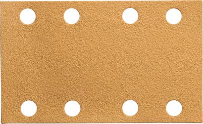 Gold-Schleifmittel-Streifen 81 x 133 mm 8-Loch