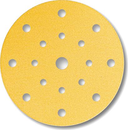 Gold-Schleifmittel-Scheiben ø 150 mm 17-Loch
