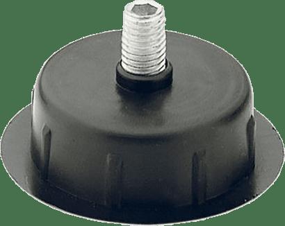 Integrierter Sockelversteller schwarz