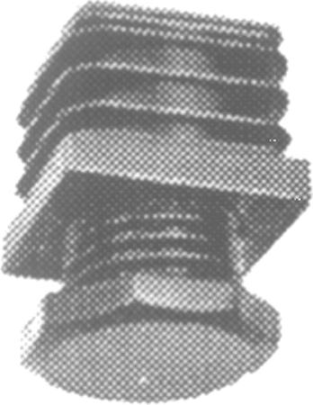 Kunststoff-Schraub-Fußkappe