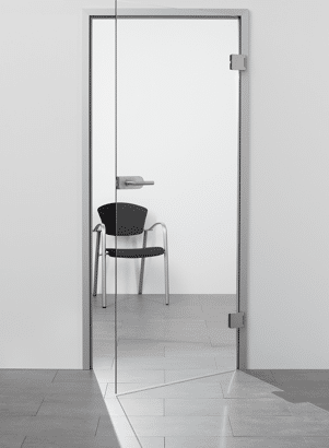 """Glas-Drehtür """"Klarglas"""" mit sLINE Glastürbeschlag"""