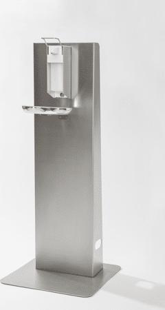 Mobiler Desinfektionsmittelspender aus Edelstahl Typ 1