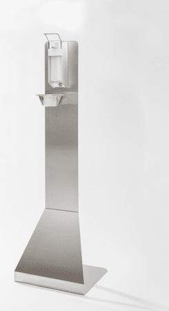 Mobiler Desinfektionsmittelspender aus Edelstahl Typ 2