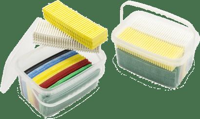 Unterlegeplatten-Sortiment in PE-Tragebox