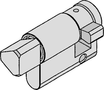 Dreikant-Halbzylinder