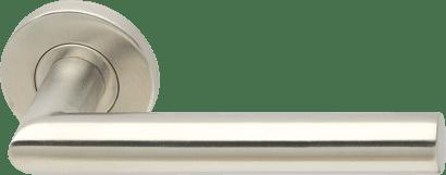Halbgarnitur ohne Schlüsselrosette Edelstahl für Stangengriffe