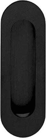 Schiebeturmuschel schwarz matt rund