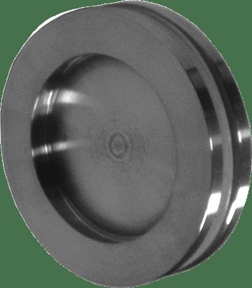 Glas-Schiebetürmuschel Edelstahl
