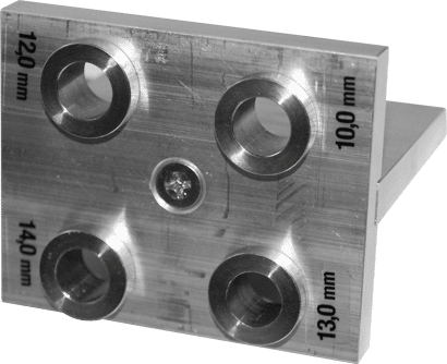 Bohrlehre für XS-Verbinder