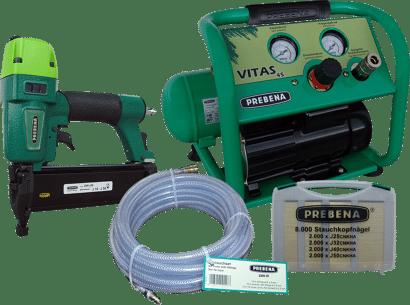 Kompressor VITAS 45 + Druckluftnagler 2XR-J50