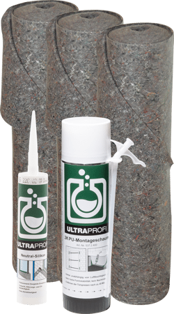 ULTRAprofi Aktionsset Neutral-Silikon, 2K-Schaum und Abdeckvlies