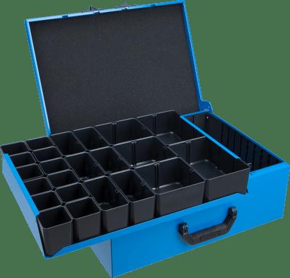Metallkoffer Typ DM mit Trennblechen und Insetboxen