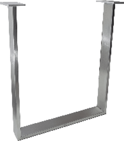 Tischkufengestell Edelstahl