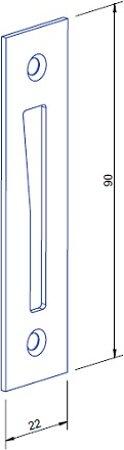 Schließblech 22 x 90 mm