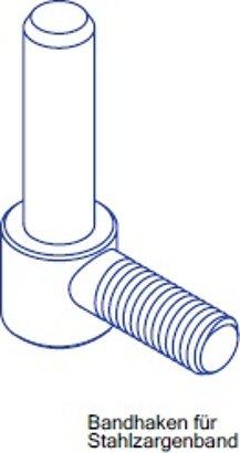 Bandhaken für Stahlzargenband