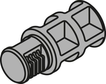 Positionierdübel staubgrau für TANDEMBOX K-Zarge