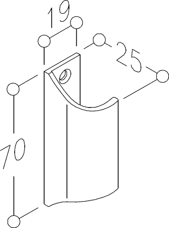 Balkontür-Griff 70mm