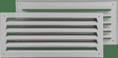 Badezimmerlüftung Aluminium 333 x 157 mm